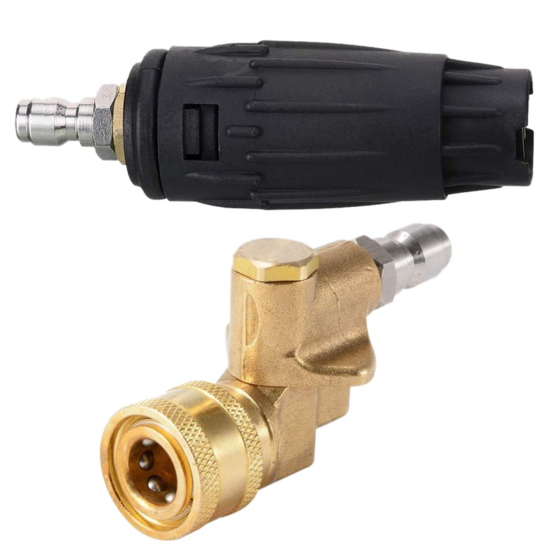 1//4 Inch 4500PSI Pressure Washer Pivoting Coupler Quick Connect Adaptor