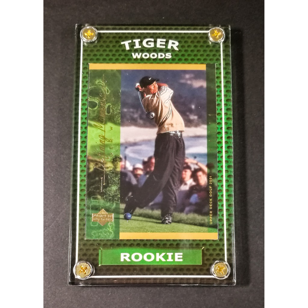 Tiger Woods Rookie 2001 Defining Moments Ud Golf Card