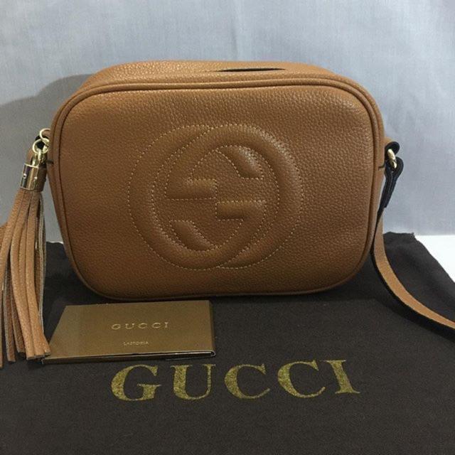 e9a17a385c7 CLEARANCE!!! Gucci Soho Leather Disco Sling Bag