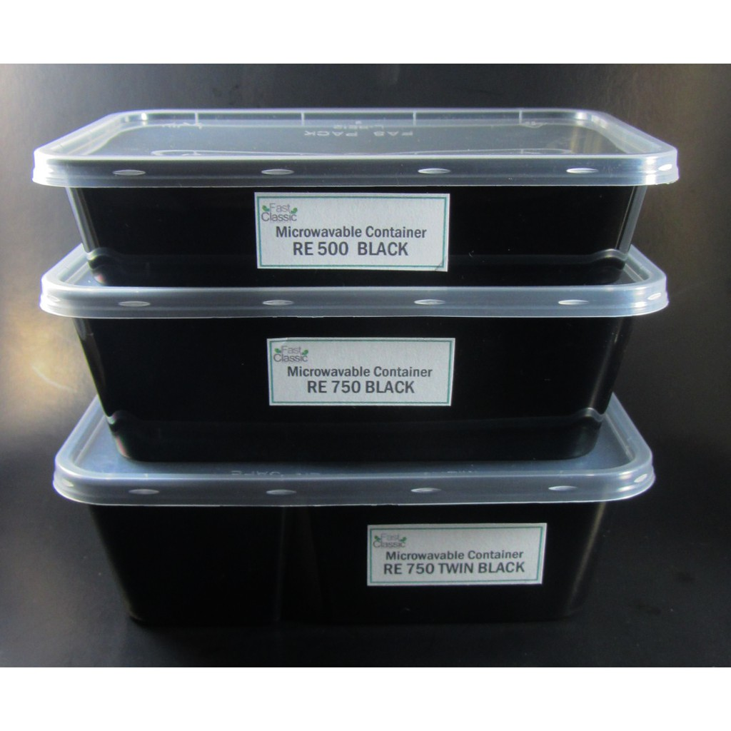 Microwavable Black 500 Ml 50 Pcs