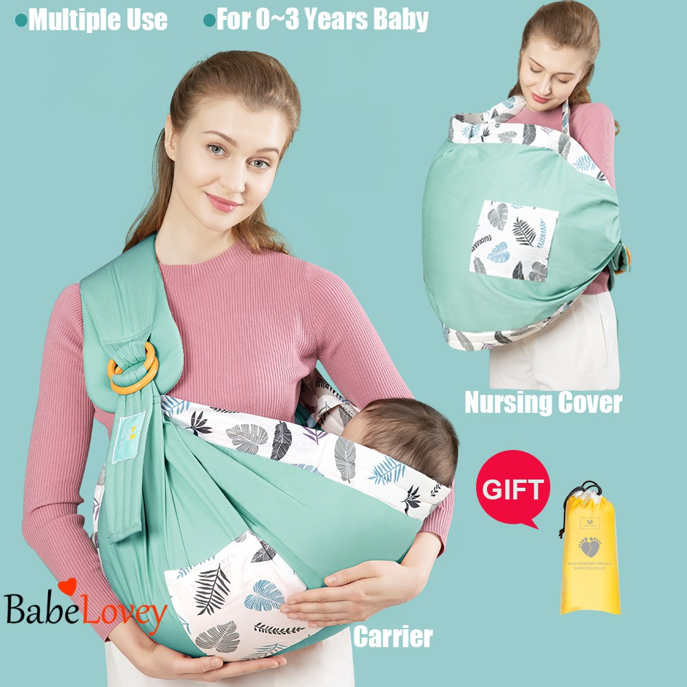 organic baby sling Daiesu Sweetheart Blush Ring Sling Baby Carrier newborn essential babies gift for new mom infant carrier pink