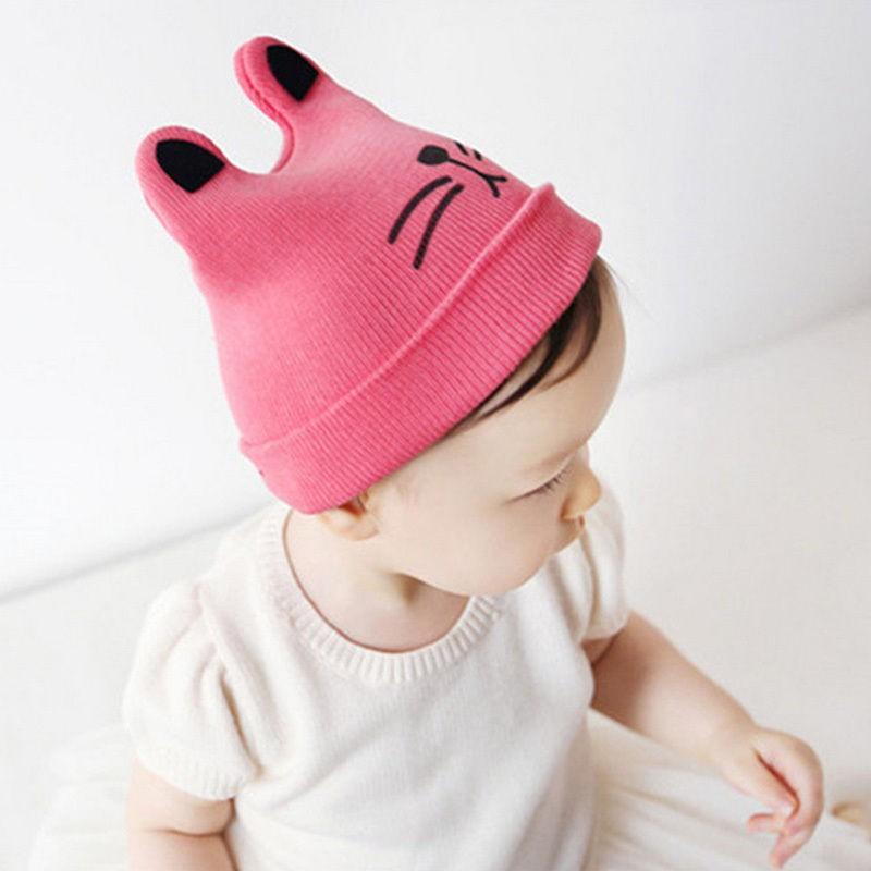 d46dc487e Lovely Newborn Infants Baby Girls Boys Cute Warm Winter Cat Beanie Hat  Knitted Cap Hats HB MAK