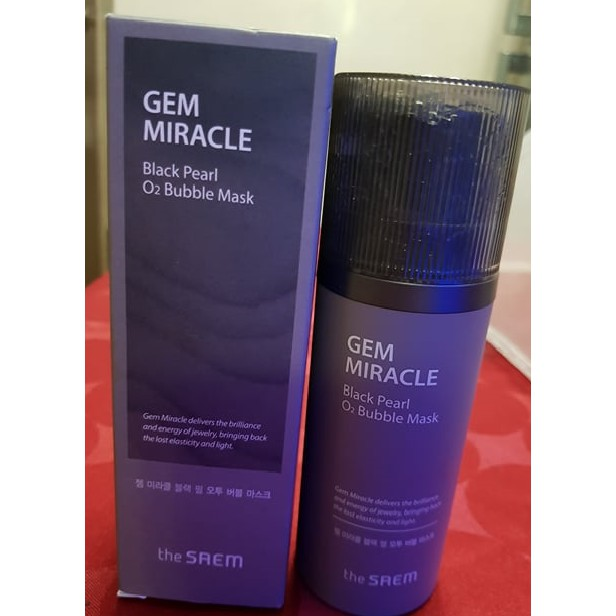 GEM MIRACLE Black Pearl O2 Bubble Mask