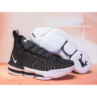 newest f59e1 e2771 Nike LeBron 16 Black White Mens Basketball Shoes   Shopee Philippines