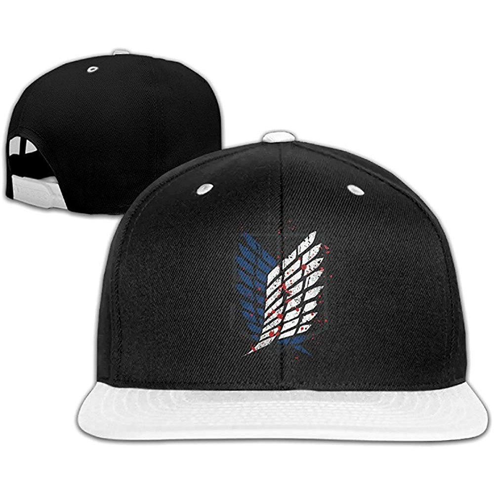 a2cfe804be202 Attack On Titan Bloody Hip Hop Hat Baseball Cap White White