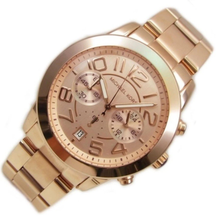 3f24774550b2 ProductImage. ProductImage. Michael Kors Mercer Women s Rose Gold Stainless  Steel Strap Watch MK5727