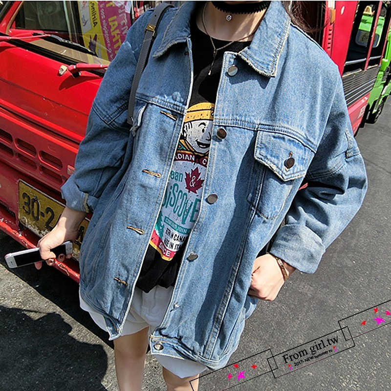YUNY Womens Skinny Plus-Size Long Hood Denim Loose Button Coat Jacket Light Blue L