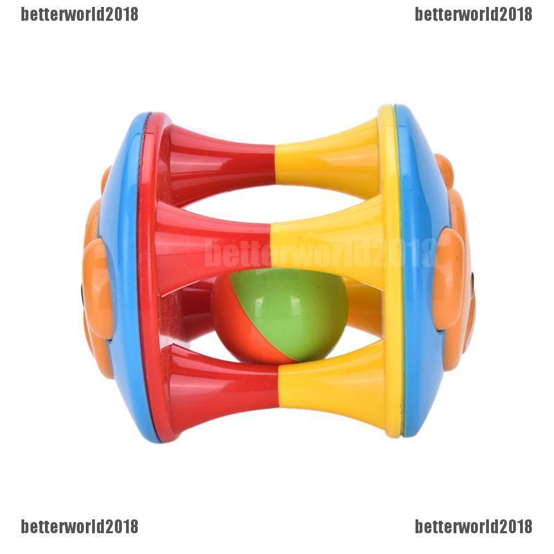 Baby Toddler Jingle Rattle Rolling Ball Ring Bell Grasp Training Shaker Toy