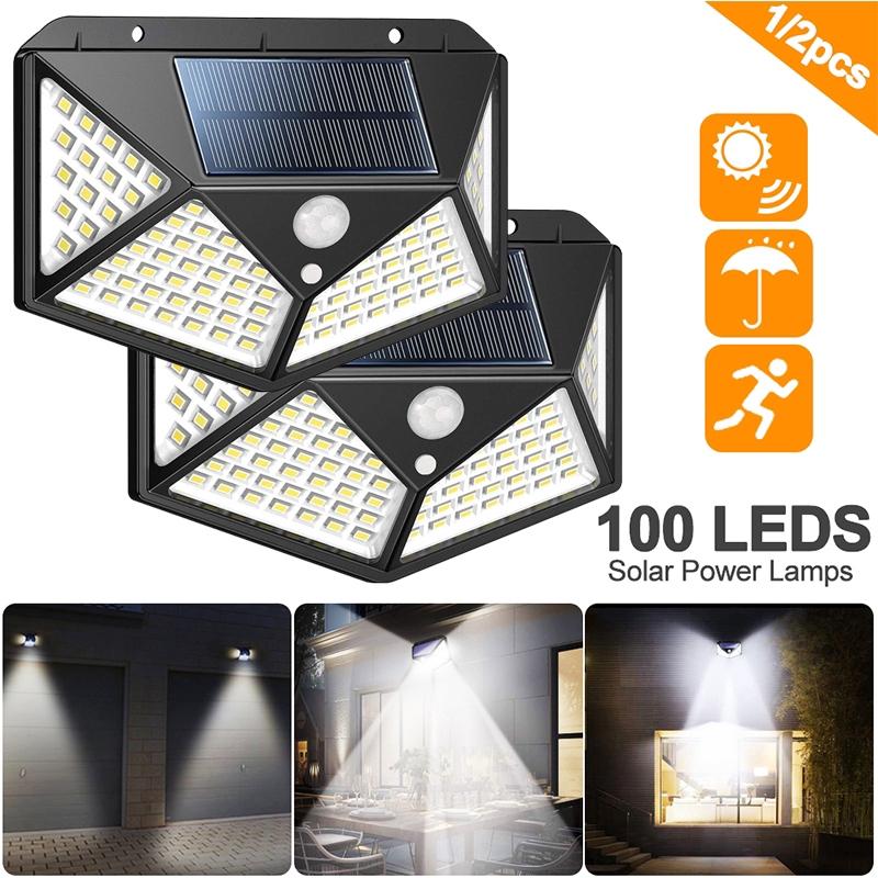 3 Modes Wide Angle 100 Led Pir Solar Light Motion Sensor Outdoor Garden Lamp Waterproof Solar Light Shopee Philippines