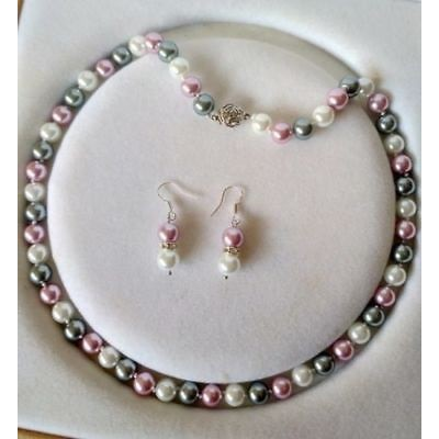 9Pairs 7-8MM White Akoya Cultured Pearl Earring AAA