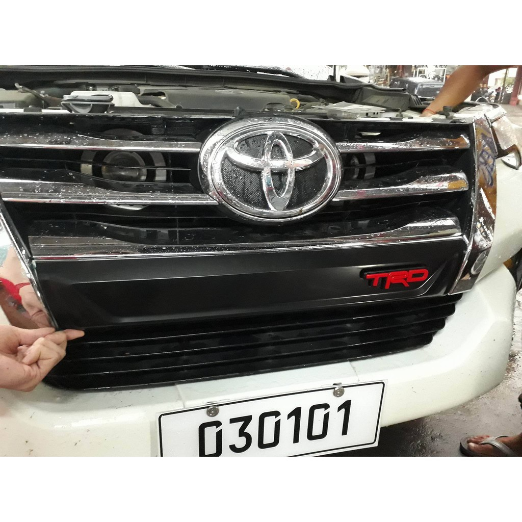 fortuner front bumper grill trim with TRD