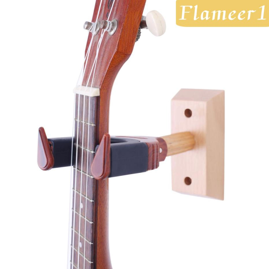 Diy Ukulele Violin Wall Mount Hanger Musical Instrument Parts Red Wood Shopee Philippines
