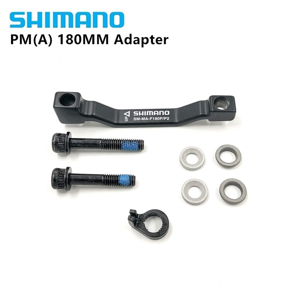 SHIMANO SM-MA-F180P//S MTB Bike Front Disc Brake Caliper Adapter 180mm