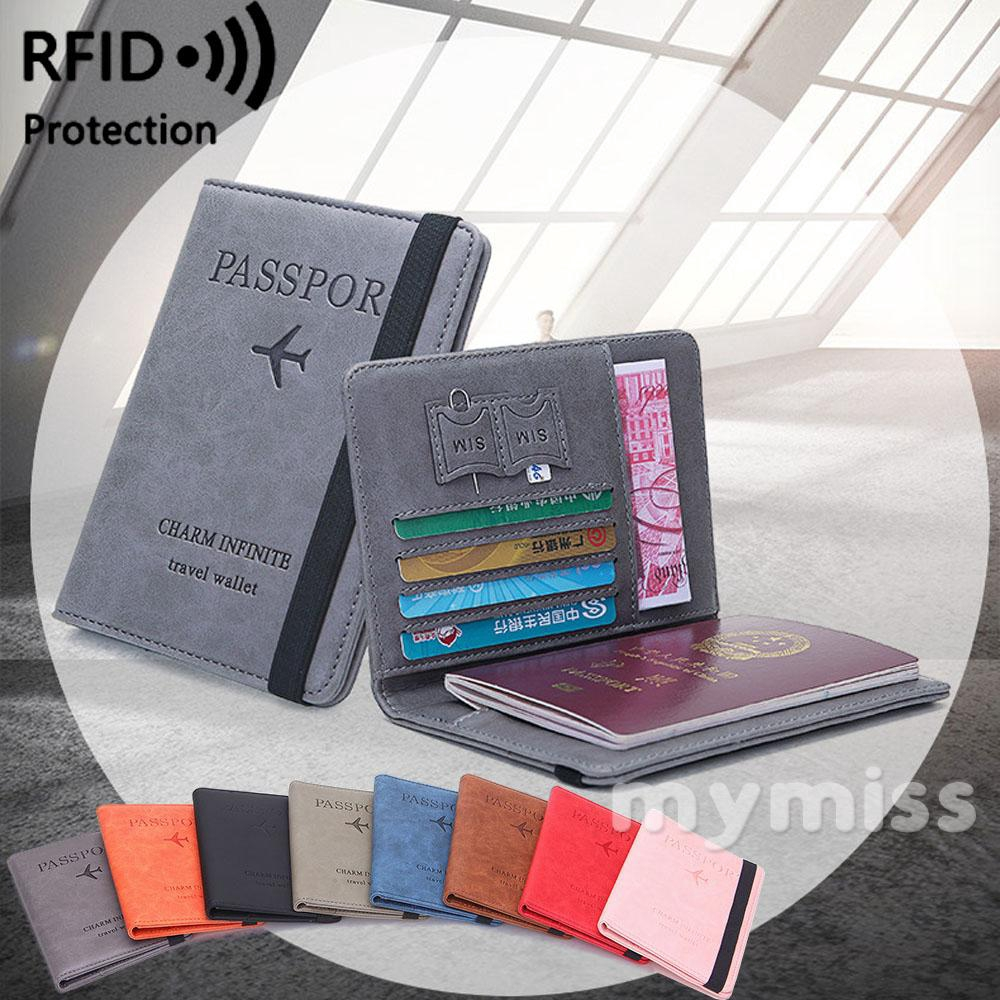 Passport Holder Case Hello Summer Yellow Protective Premium Leather RFID Blocking Wallet Case for Passport