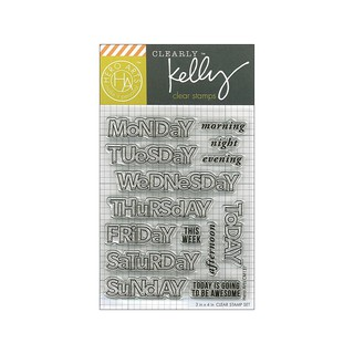 Hero Arts Kelly S Days Of The Week Clear Stamp Set