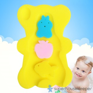 Bathing Baby Products First Steps Baby Bath Sponge Support In Teddy Bear Shape For Babies From Newborn Pink Konozsigns Com