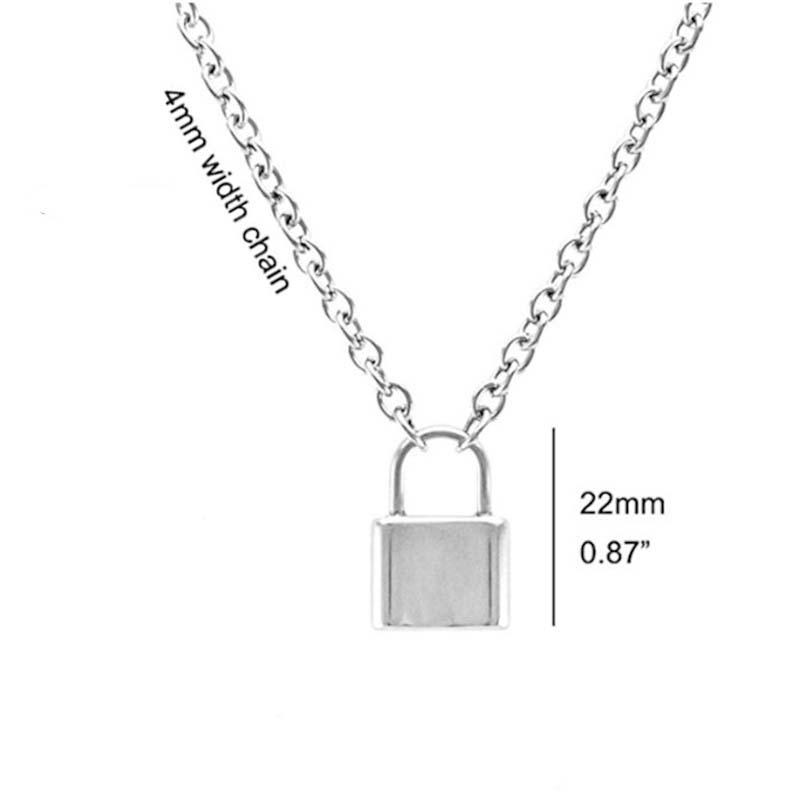 NEW Lock Pendant Padlock Charm Necklace Chain Women Jewelry Gift Y Chain UK