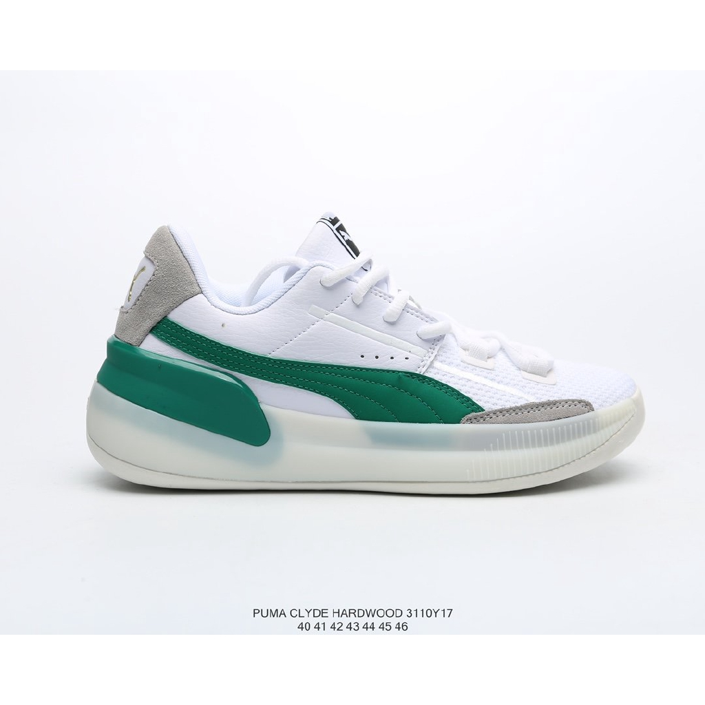 materiales superiores moda de lujo selección mundial de Original Puma Clyde Hardwood Leather Breathable Knit Fashion ...