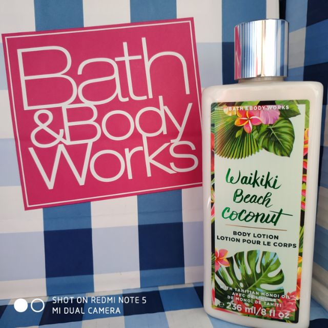 Authentic Bath Body Works Waikiki Beach Coconut Lotion