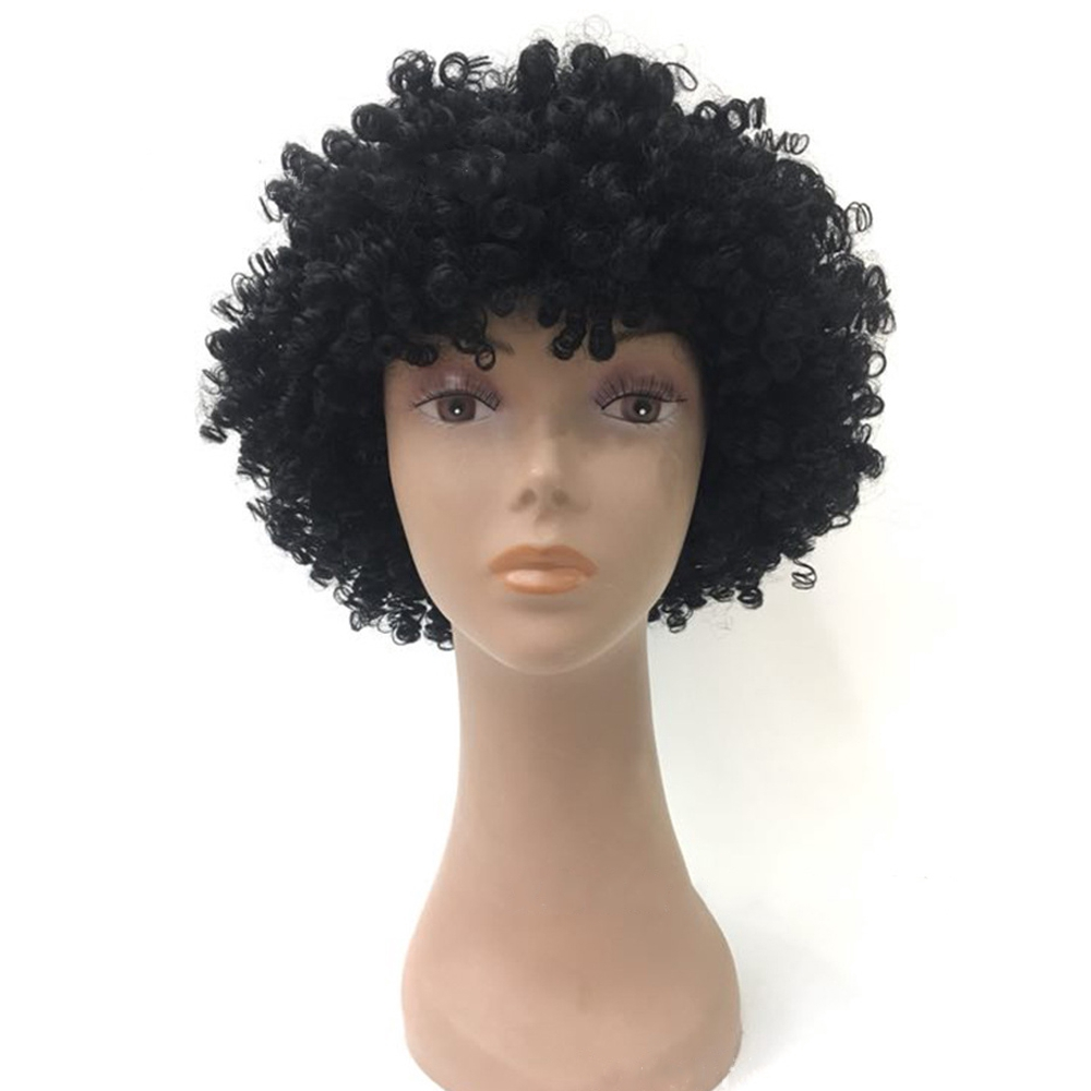 Fashion Curly Afro Wig Fancy Dress Party Clown Diso Mens Ladies 70S Hair Costume