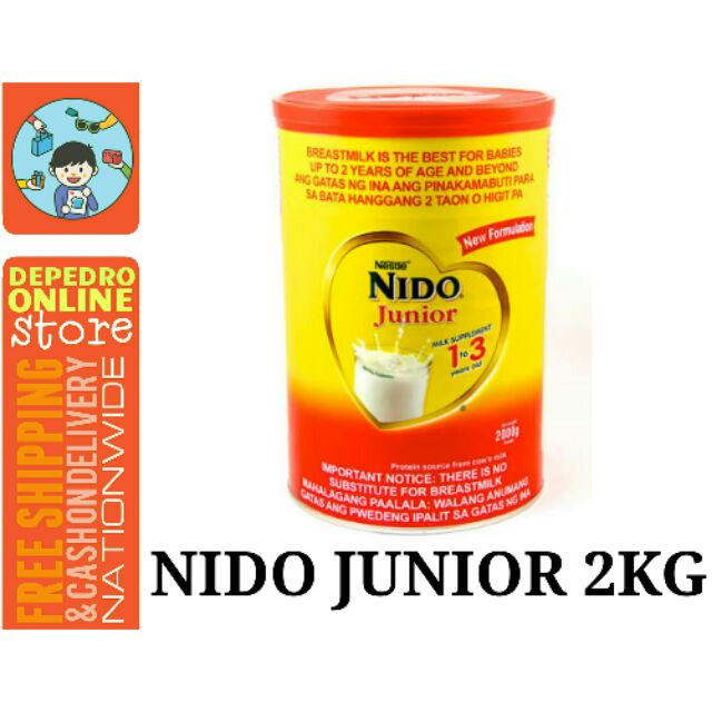 NIDO Junior 2KG (1-3years)   Shopee
