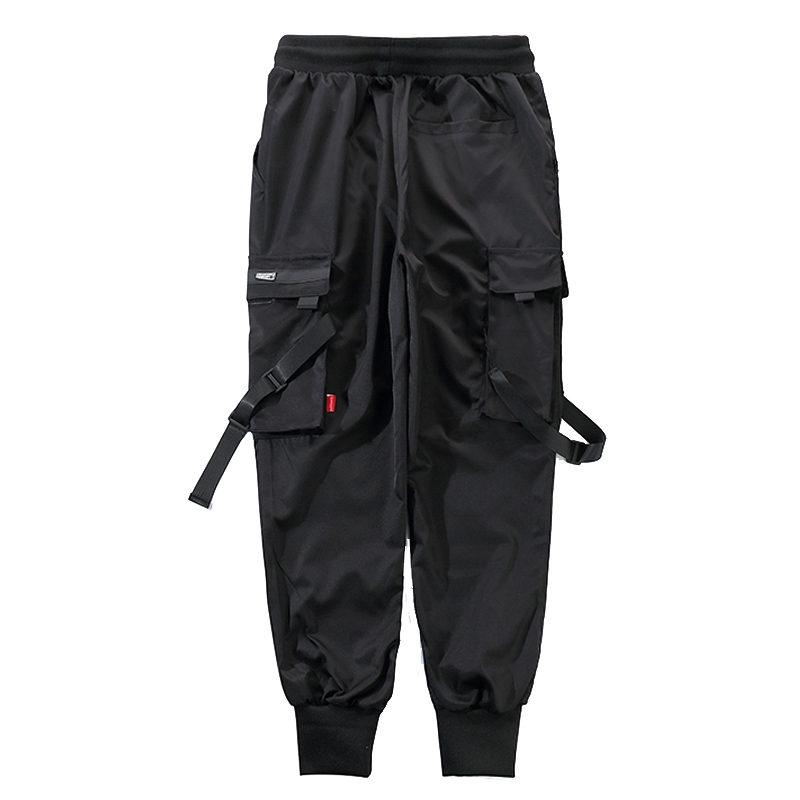 YUNY Mens Outwear Multi-Pockets Casual Loose Plus-Size Cargo Pant Black 27