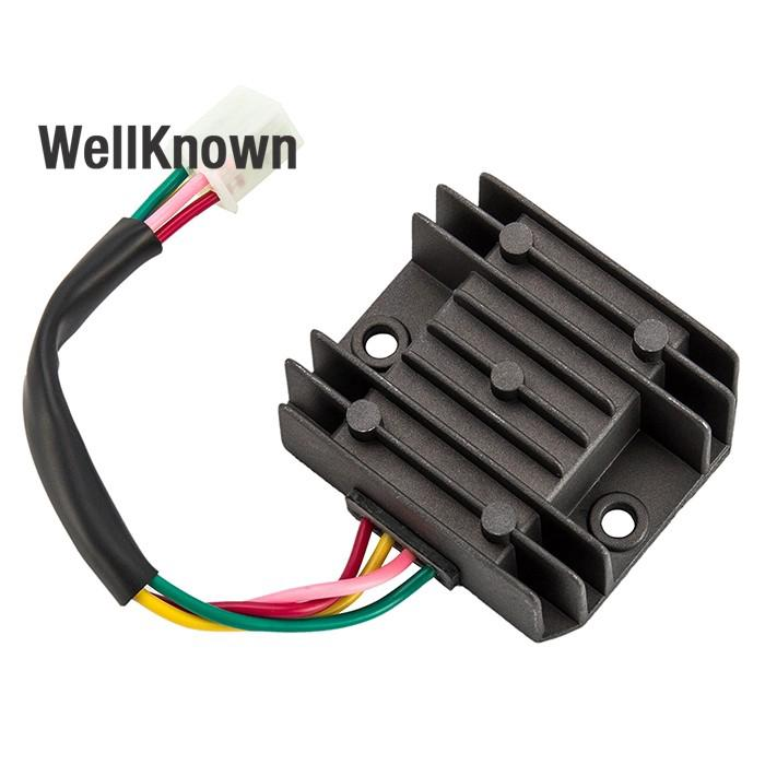 Universal 4 Wire 2 Phase Motorcycle Regulator Rectifier 12V on