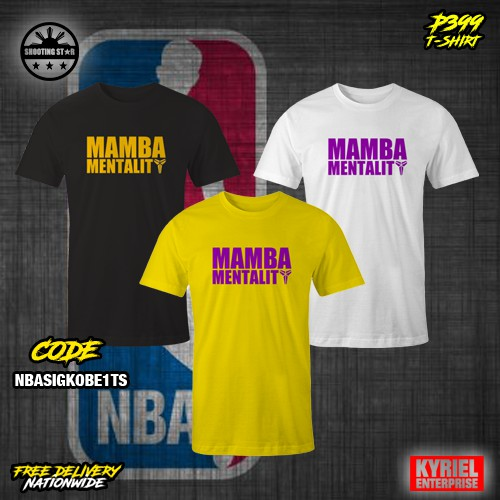 231c27e51 NBA Mamba Mentality Kobe T-Shirt | Shopee Philippines