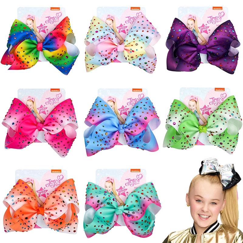 Birthday Girl Fancy Dress Hair Accessories Pastel//Rainbow JoJo Siwa Bow Set