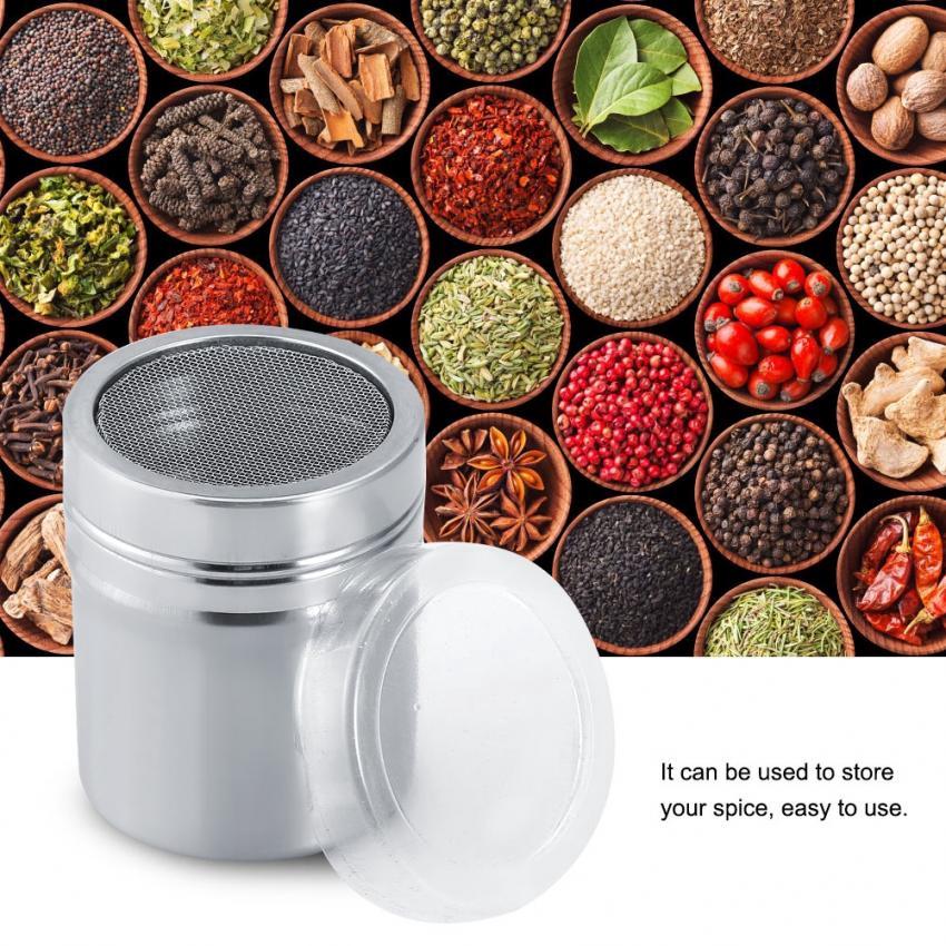 Stainless Steel Durable Spice Jar Season Coffee Jar