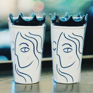 2019 Starbucks Anniversary Siren Crown Ceramic Tumbler