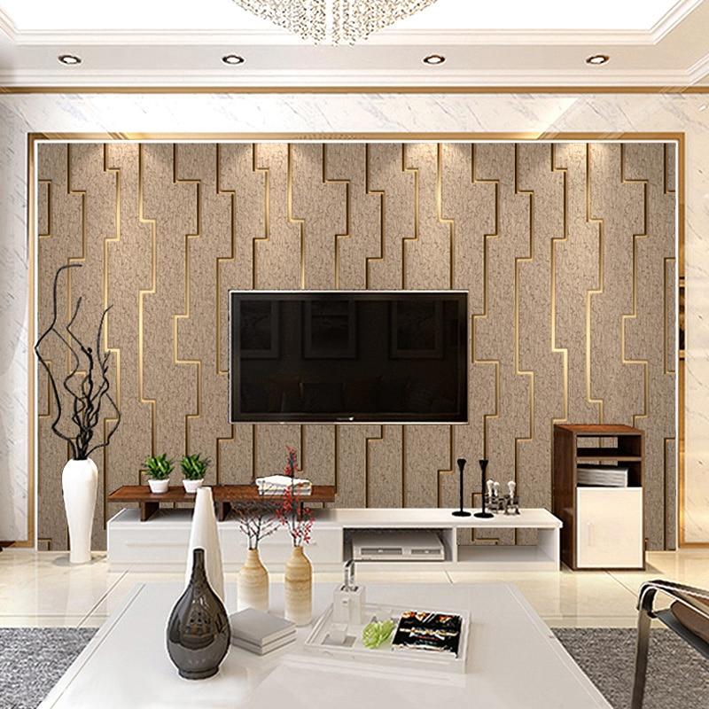 3d Striped Non Woven Wallpaper For, Modern Wallpaper Designs For Living Room