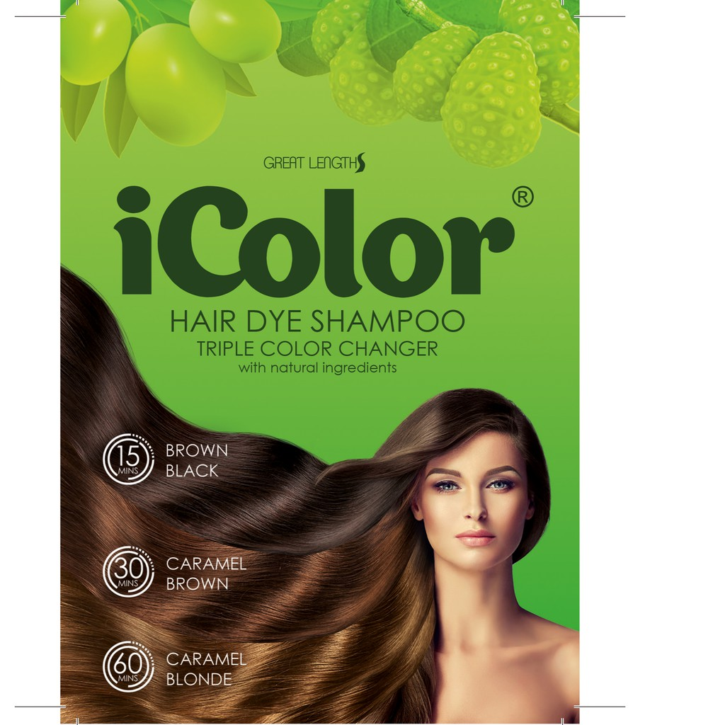 iColor Hair Dye Shampoo Triple Color Changer 25ml Sachet