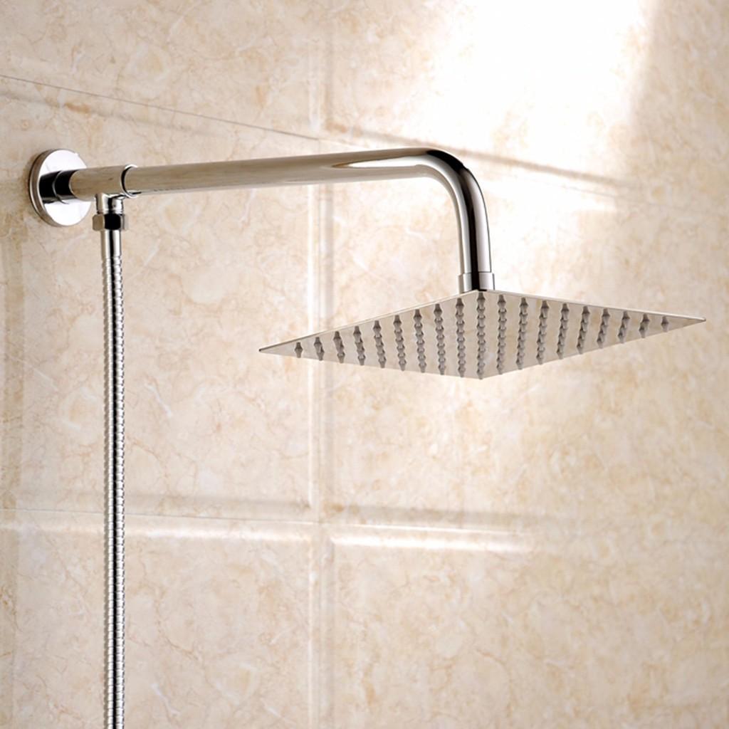 Good 10 Square Stainless Steel Rain Shower Head Rainfall Bathroom Top Sprayer 360