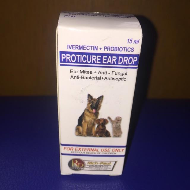 Ivermectin + Probiotics PROTICURE Ear Drops 15 ml