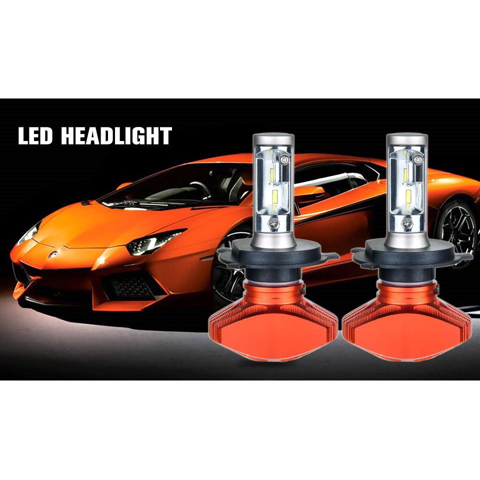 1 Pair H4 HB1 High Low Beam 72W 6500K 16000LM COB LED Headlight Car Light Bulbs