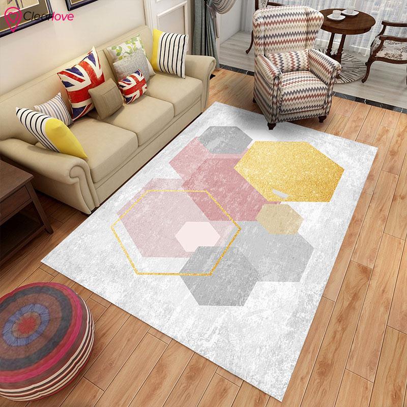 Living Room Foot Pad Geometric Rugs For