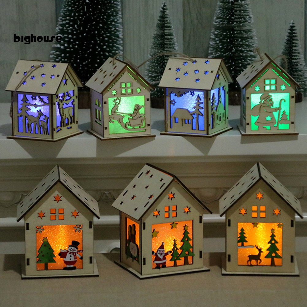 Big Wooden Log Cabin Light Chalet Ornament Hanging Christmas Xmas Tree Hotel Decor Shopee Philippines