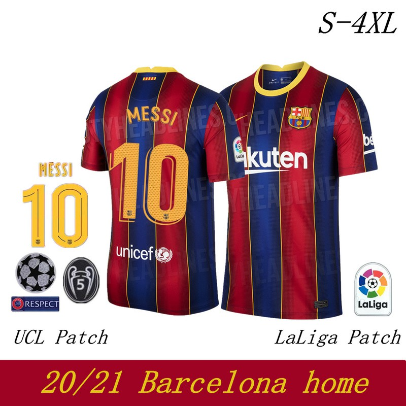 Top Quality 2021 Barcelona Home Football Jersey Man Shirt Shopee Philippines