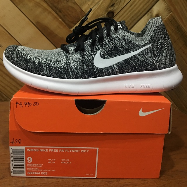 #28. AUTHENTIC NIKE FREE RN FLYKNIT 2017, US size 9