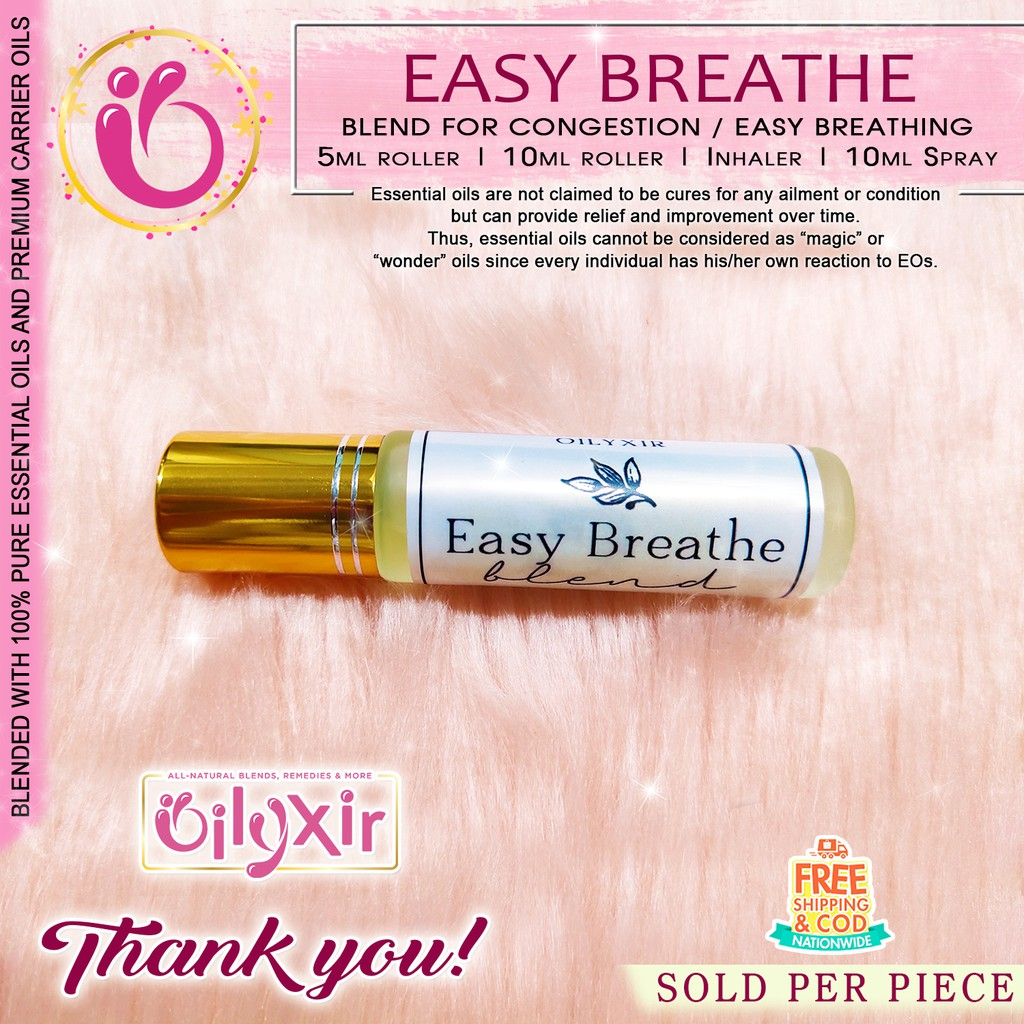 Easy Breathe Pure Essential Oil Roller Inhaler Spray For Kids And Adults Congestion Shopee Philippines