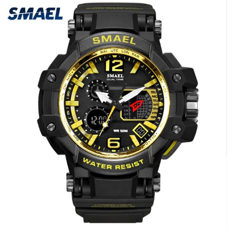 Smael Dual-Display cold watch men led watch 1376C  1367ea35a13