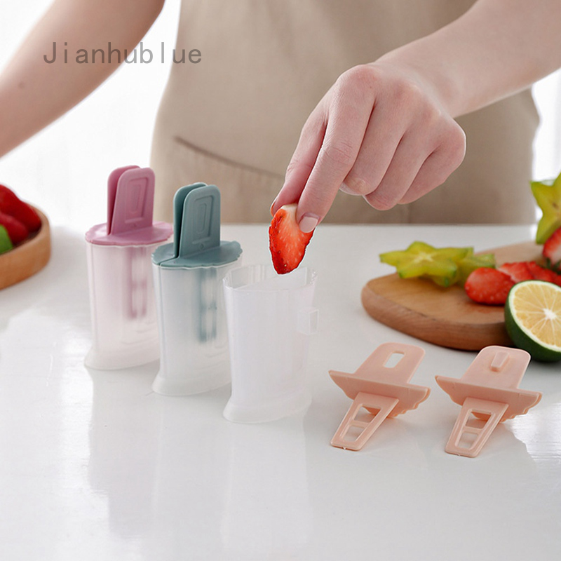 Popsicle Molds Silicone Ice Cream Mould Kids Ice Lolly Mold with Sticks and Drip Guards Reusable Ice Pop Makers in 6 Cell Blue