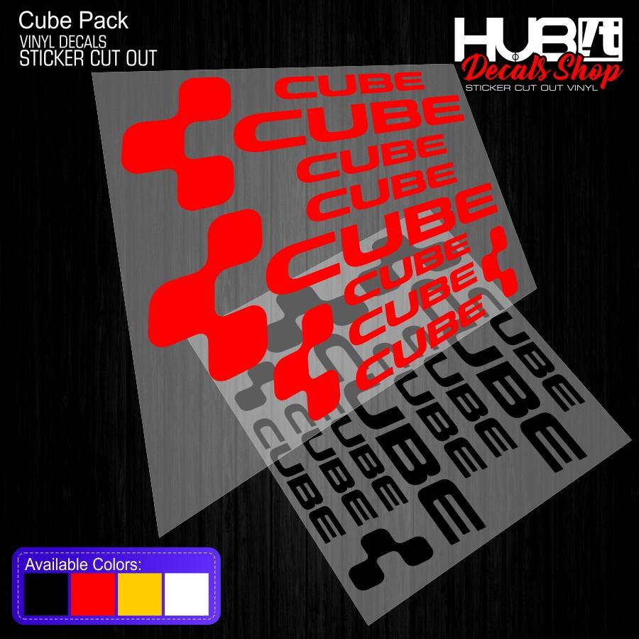 Cube Set Bike Vinyl Decals Sticker Cut Out Shopee Philippines