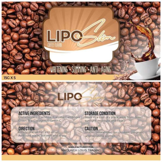 Lipo Slim Coffee Flavor Shopee Philippines