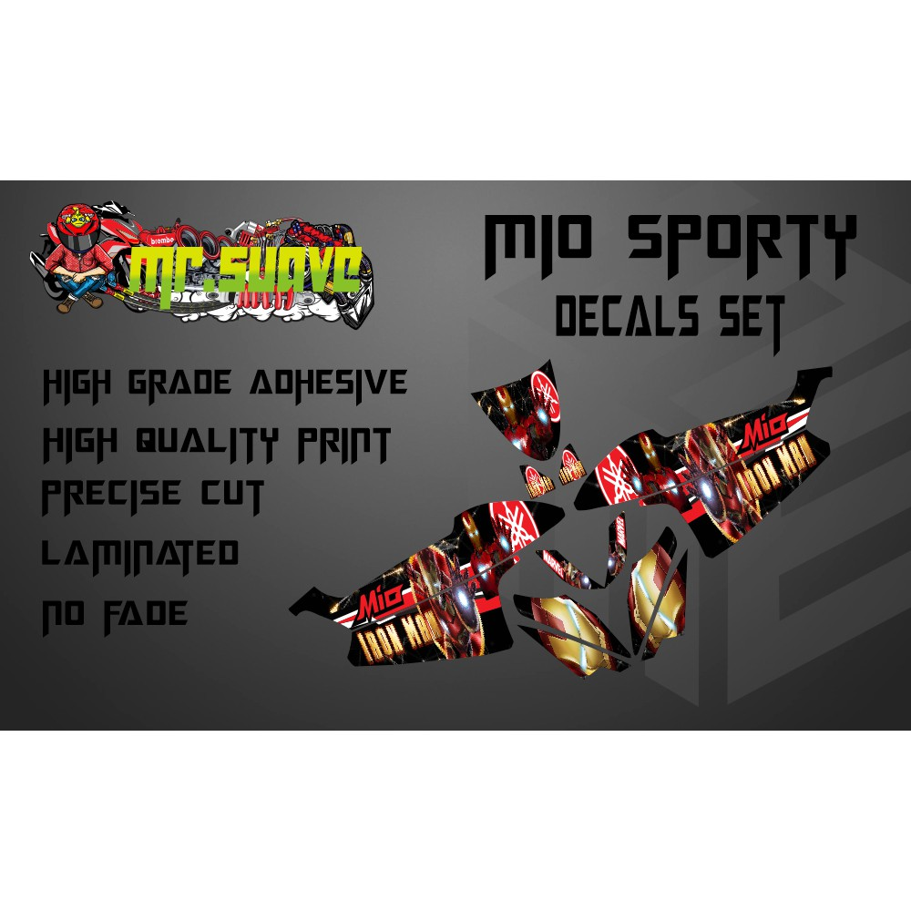 Productimage mio sporty decals set