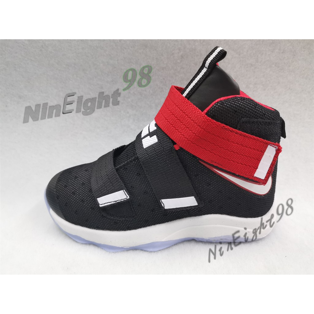 Nike Lebron James Soldier High Cut Basketball Shoes For Kids 30 35 Boys 2019 Fashion