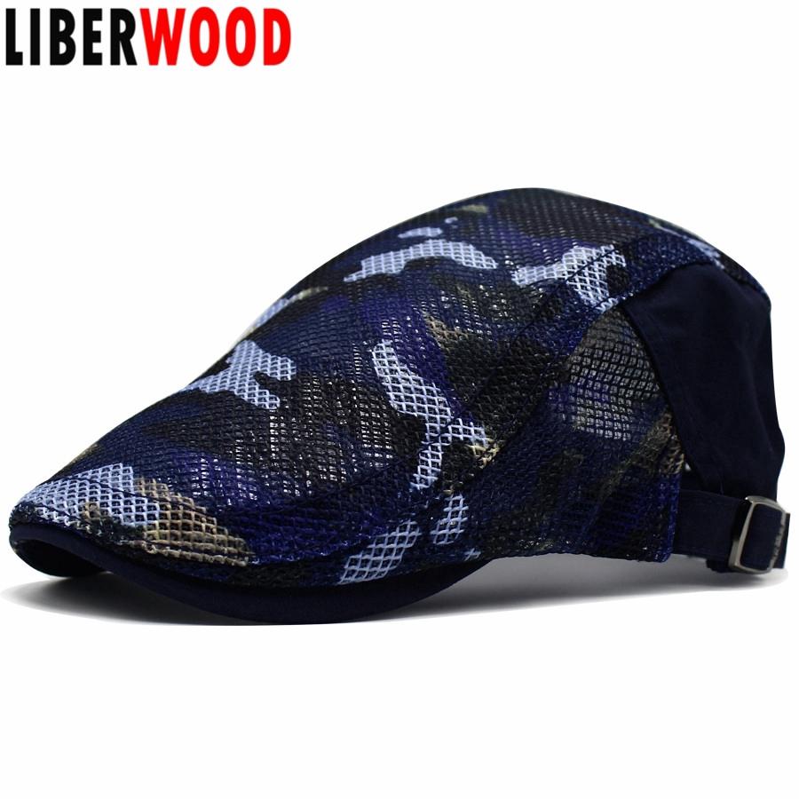 British Style Ivy Duckbill Cap Unisex Stitching Painter Driving Flat Berets Hat