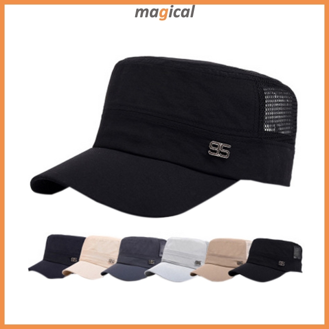 Mens Mesh Military Flat Cap Sport Driving Breathable Casual Hat Summer Outdoor