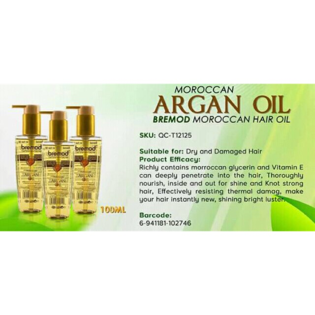 2bfca5efdd9 bremod moroccan argan oil 100ml   Shopee Philippines